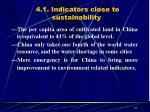 4 1 indicators close to sustainability