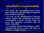 5 4 indicators of sustainability