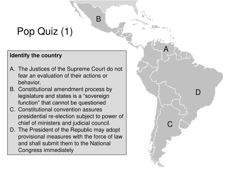 Pop quiz 1