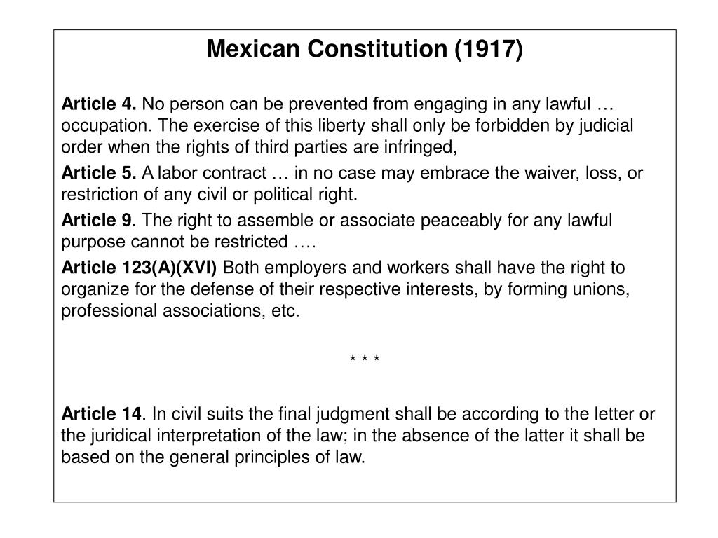 Mexican Constitution (1917)