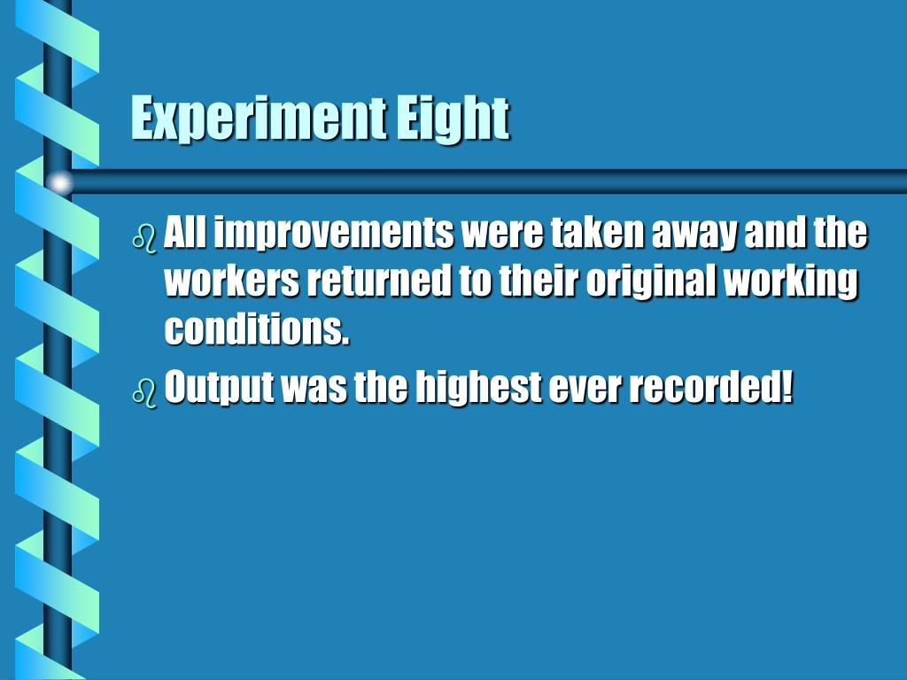 Experiment Eight