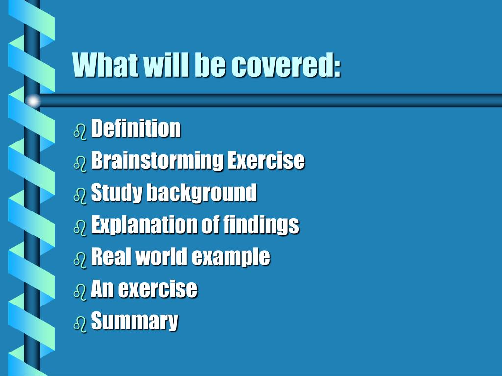 What will be covered: