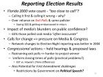 reporting election results