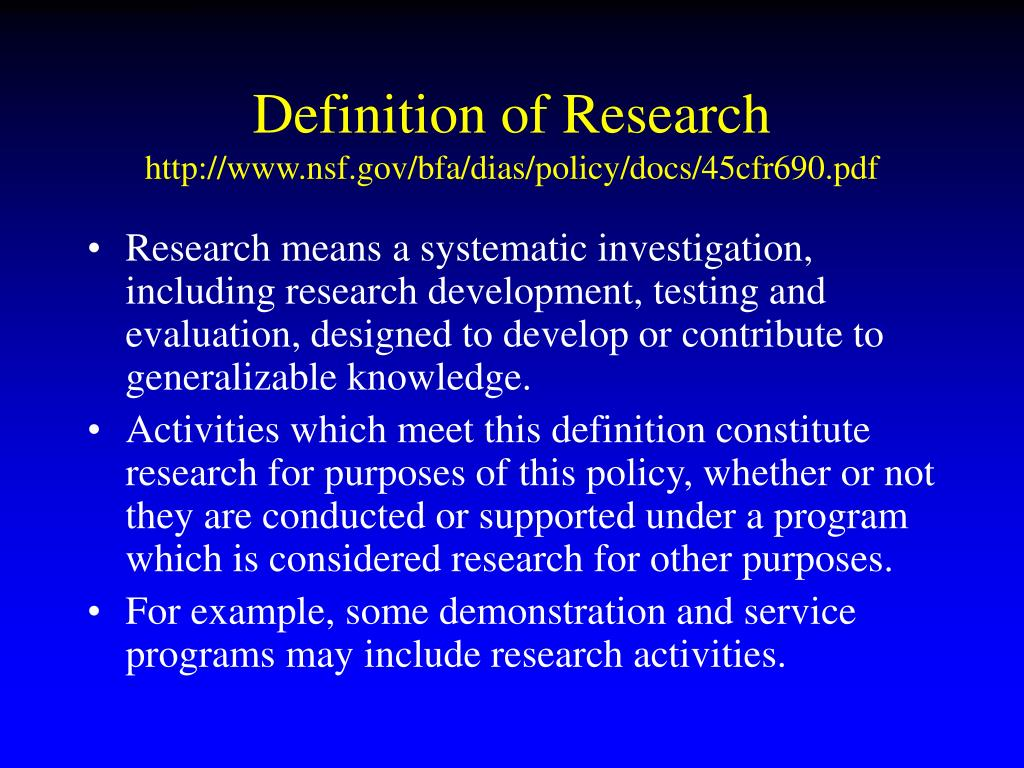 difinition of esearch