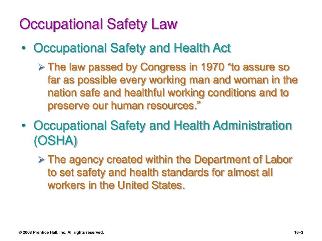 Occupational Safety Law