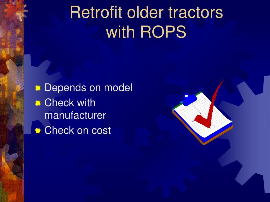 Retrofit older tractors