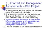 3 contract and management requirements pilot project