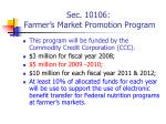 sec 10106 farmer s market promotion program