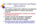 sec 10302 organic production and market data initiatives