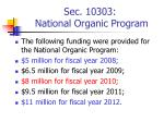 sec 10303 national organic program