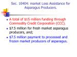 sec 10404 market loss assistance for asparagus producers