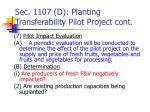 sec 1107 d planting transferability pilot project cont
