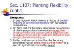 sec 1107 planting flexibility cont 1