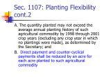 sec 1107 planting flexibility cont 2