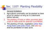 sec 1107 planting flexibility