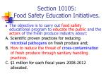 section 10105 food safety education initiatives