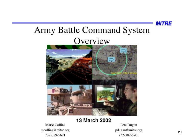 army battle command system overview n.