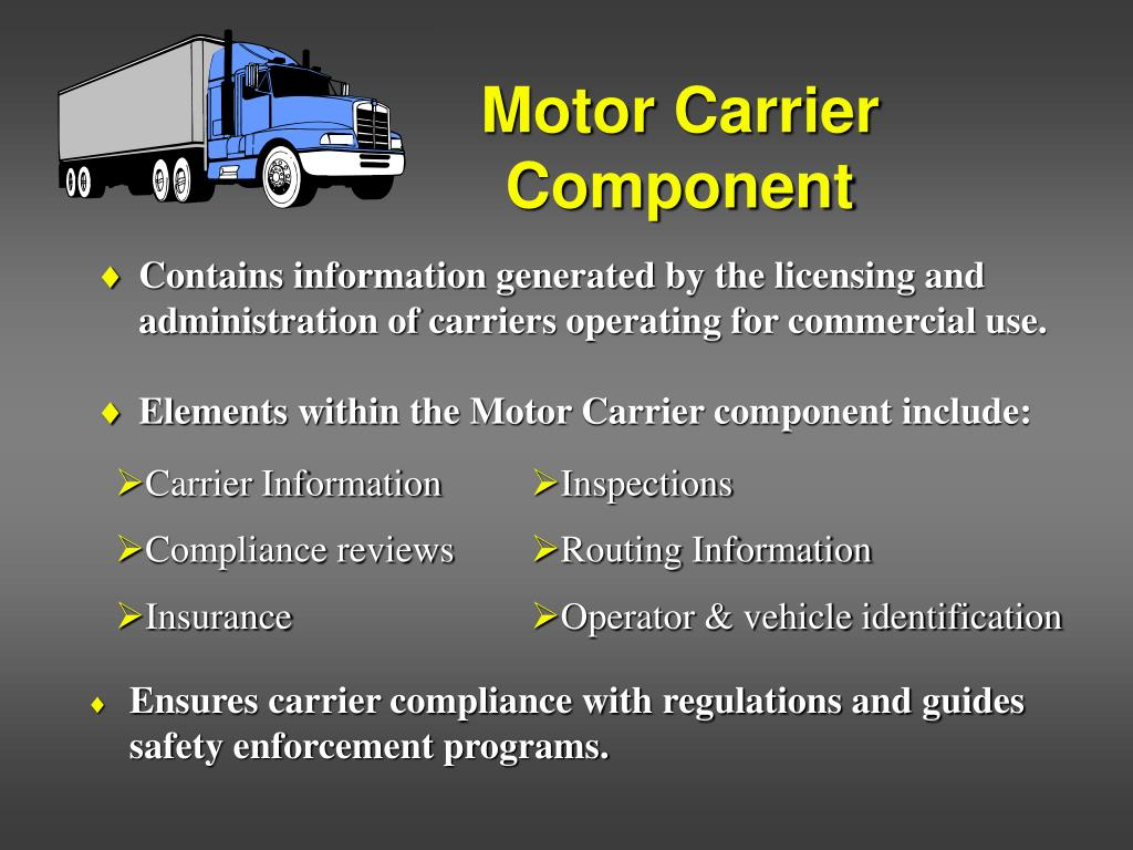 Motor Carrier                       		Component