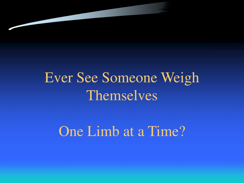 Ever See Someone Weigh Themselves