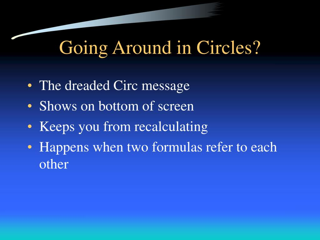 Going Around in Circles?