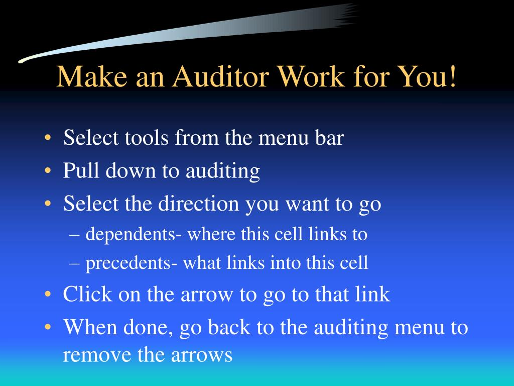 Make an Auditor Work for You!