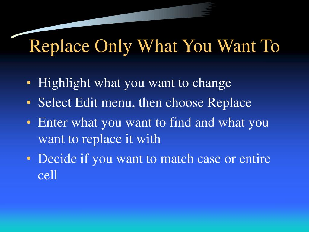 Replace Only What You Want To
