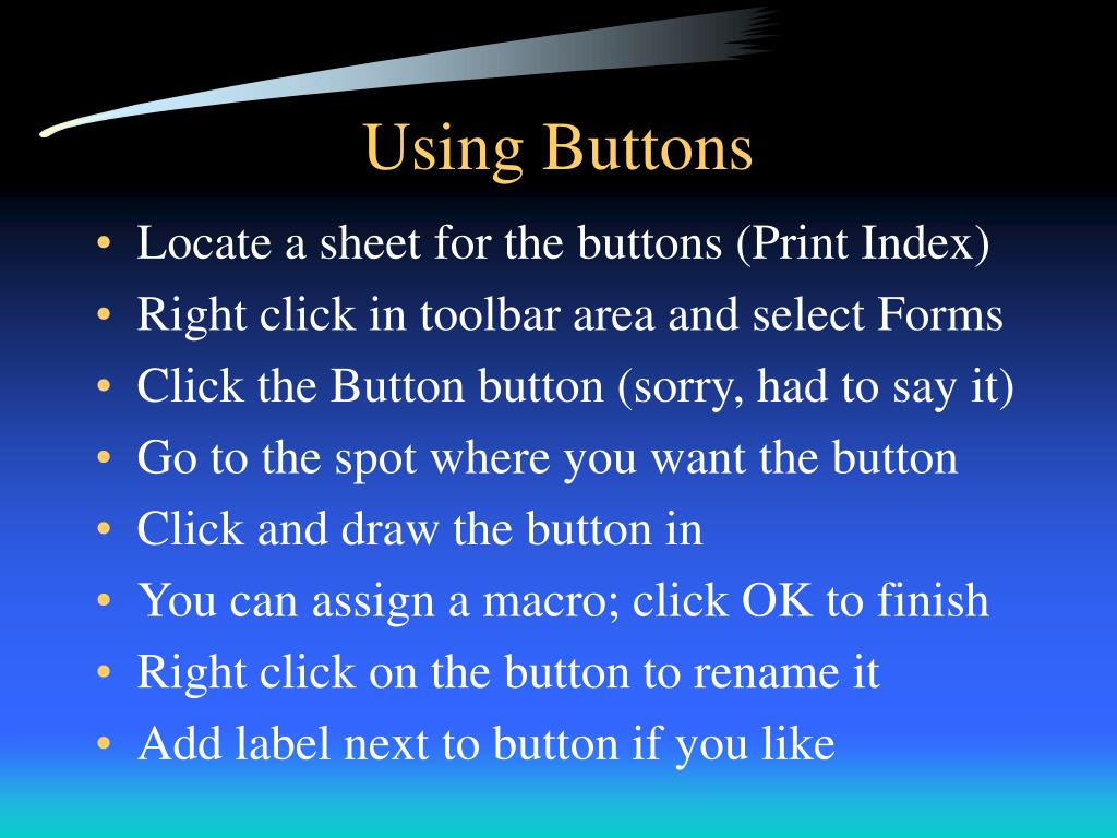 Using Buttons