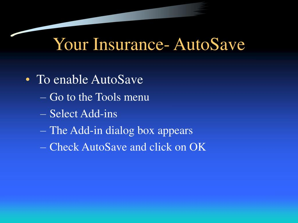 Your Insurance- AutoSave