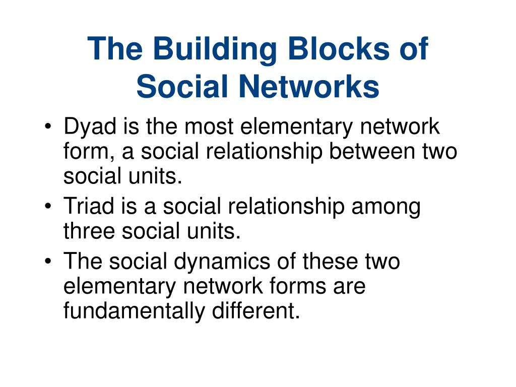 The Building Blocks of Social Networks