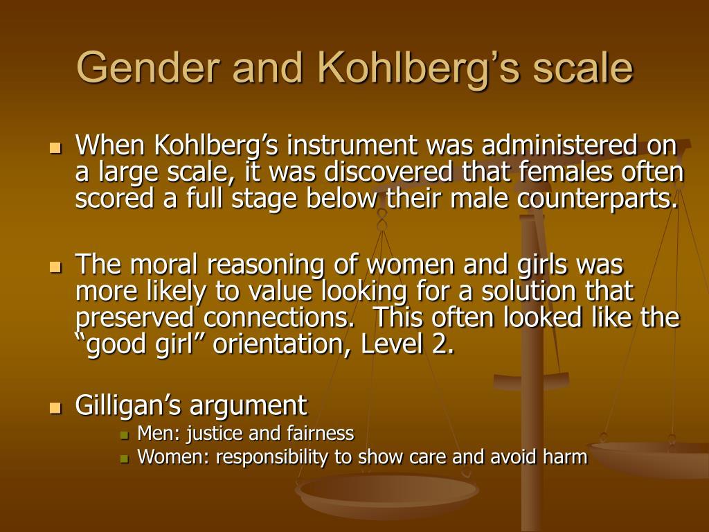 Gender and Kohlberg's scale