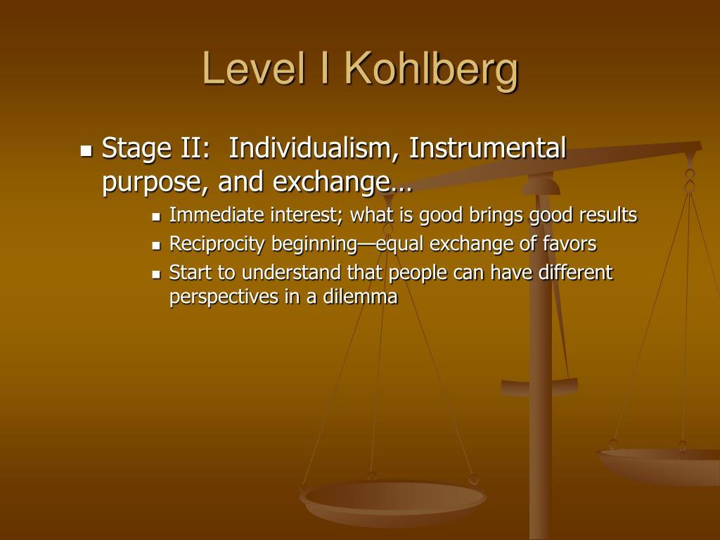 Level I Kohlberg