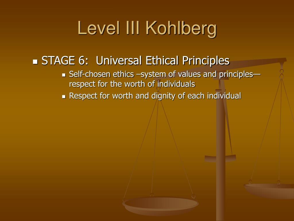 Level III Kohlberg