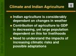 climate and indian agriculture