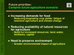future priorities complex future agriculture scenario