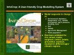 infocrop a user friendly crop modelling system