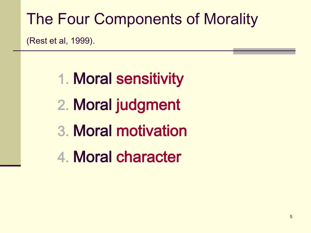 The Four Components of Morality