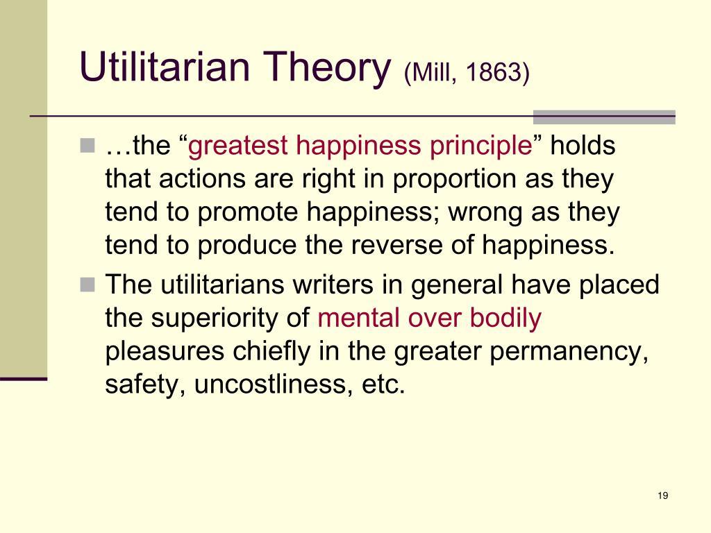 Utilitarian Theory