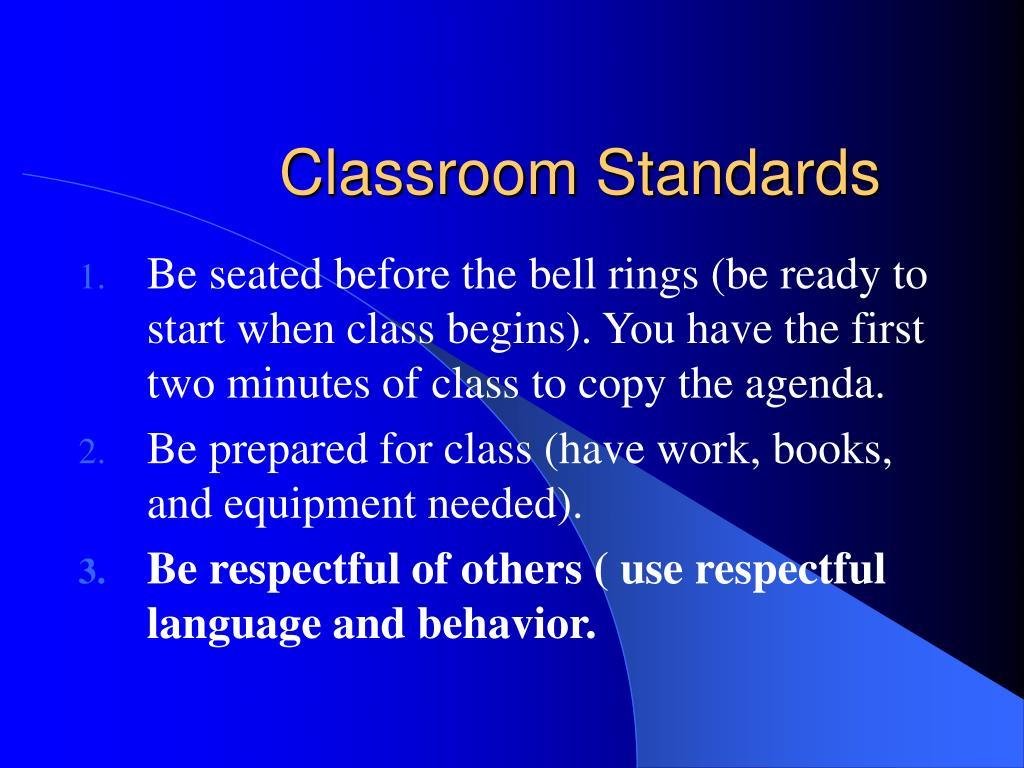 Classroom Standards