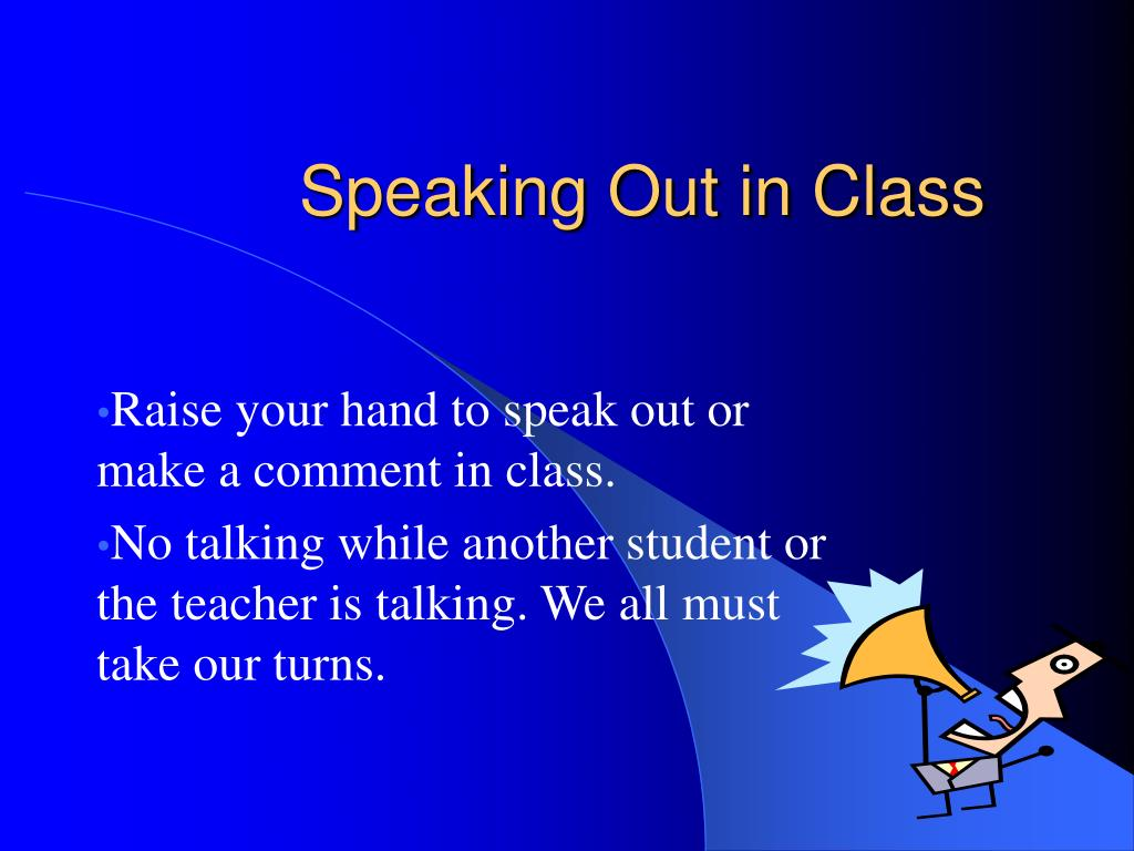 Speaking Out in Class