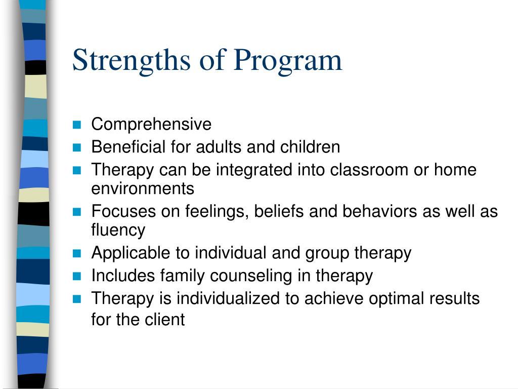 Strengths of Program