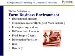 the new agriculture farm business environment