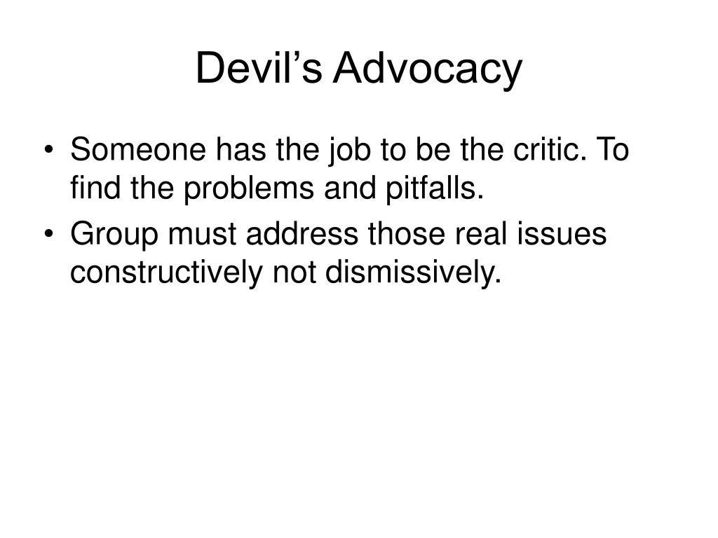 Devil's Advocacy