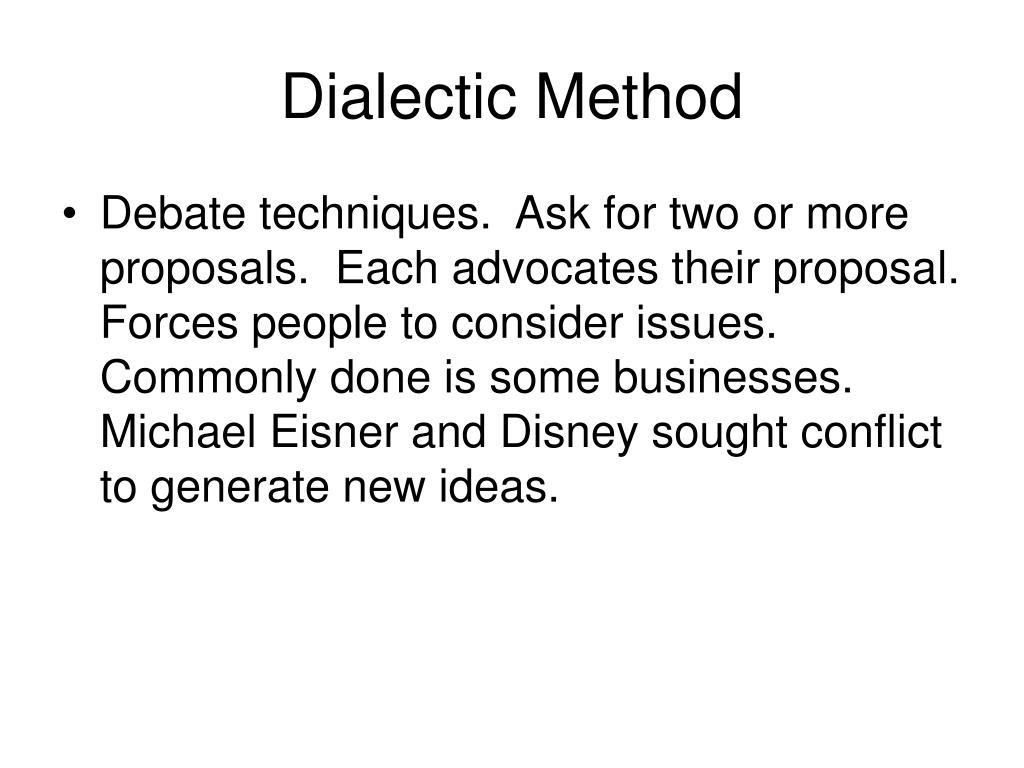 Dialectic Method