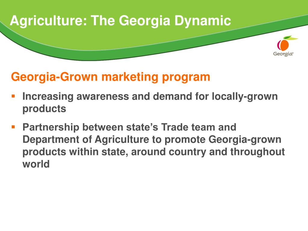 Agriculture: The Georgia Dynamic
