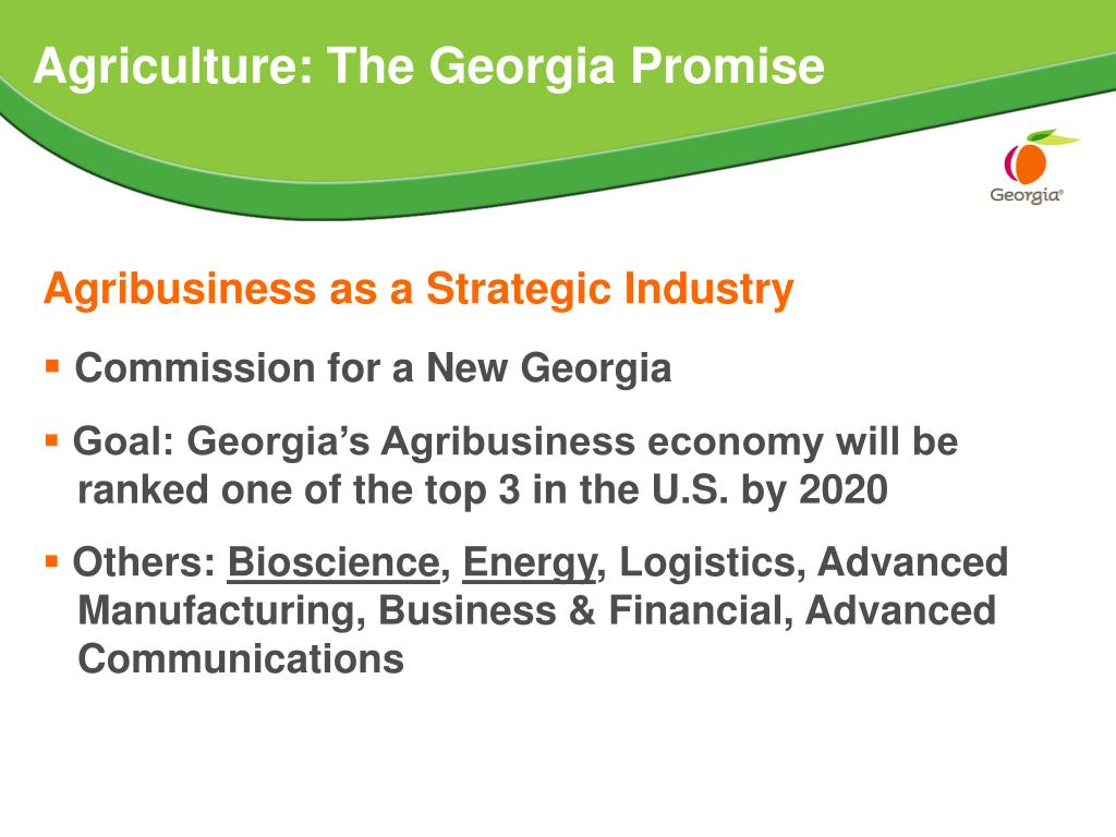 Agriculture: The Georgia Promise
