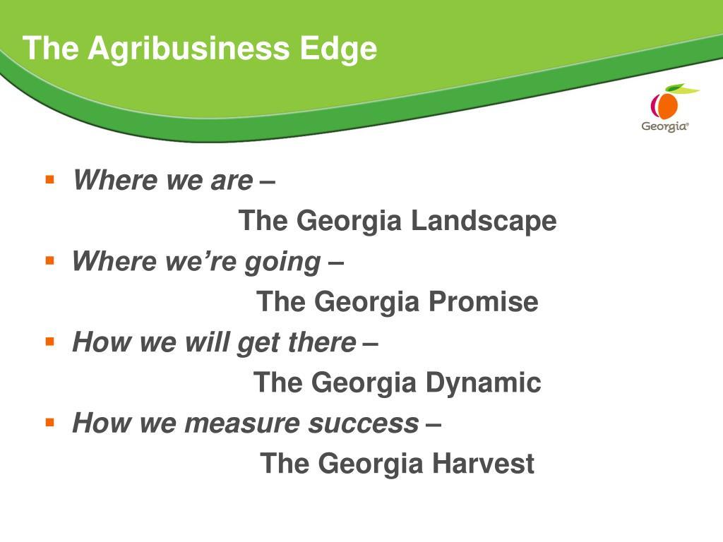The Agribusiness Edge