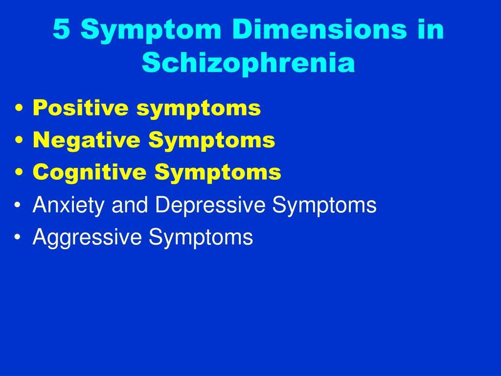 5 Symptom Dimensions in Schizophrenia