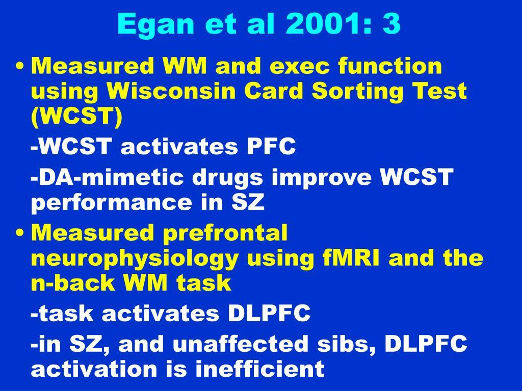 Egan et al 2001: 3