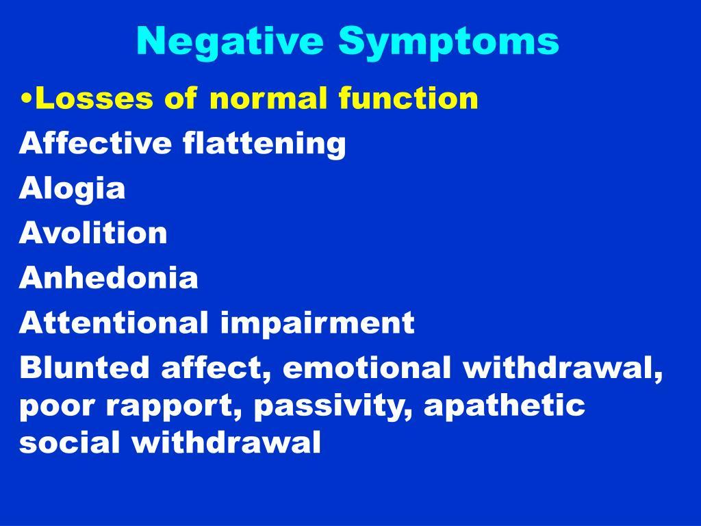 Negative Symptoms