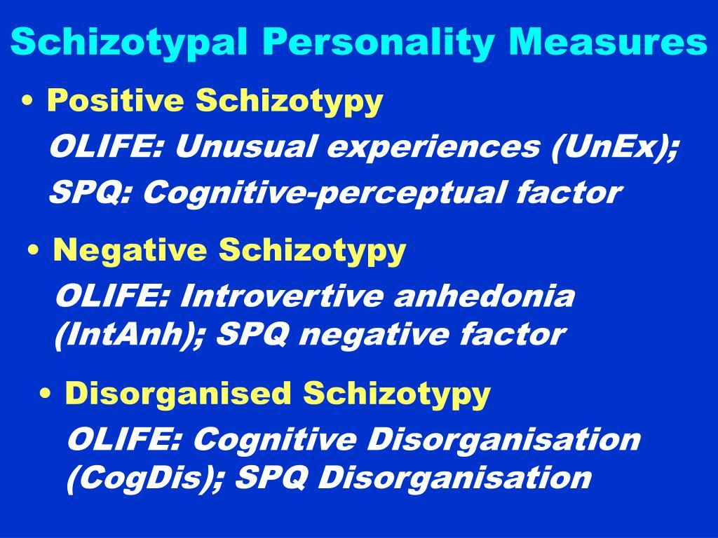 Schizotypal Personality Measures